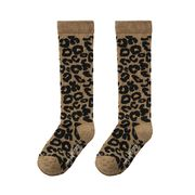 Maed for mini Knee Socks Brown Leopard