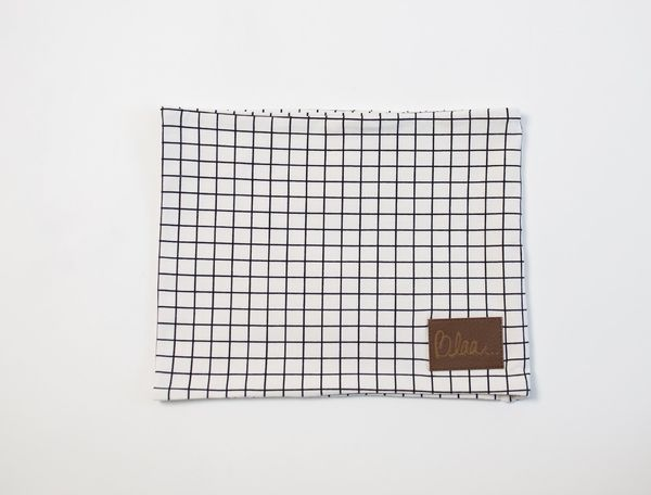 Blaa! Tube Scarf, White Grid